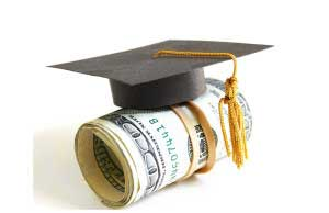 Currency with mortarboard - Corporate finance courses